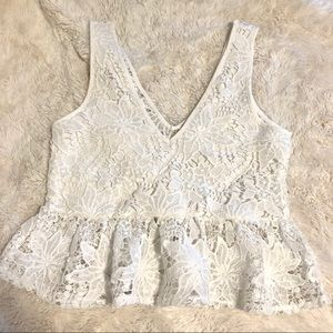Zara lace floral top